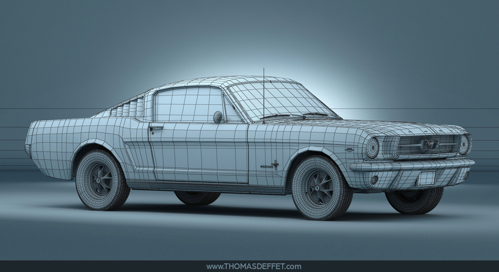 Mustang - 01 - wireframe